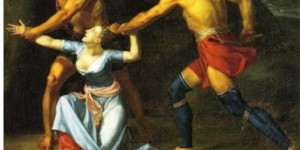 Figure 1: A depiction of The Death of Jane McCrea by John Vanderlyn painted in 1804
