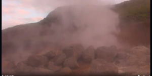"Fig. 1. One of several establishing shots of the Icelandic landscape (Ross 2004, 0'11"")."
