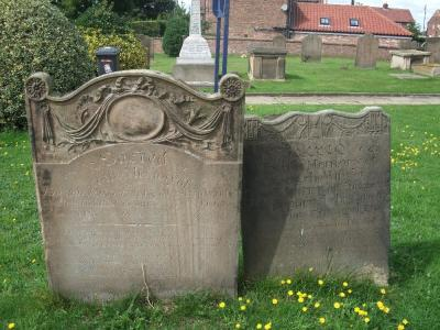 Figure 1 - Old headstones (Image Copyright - Mark Simpson)