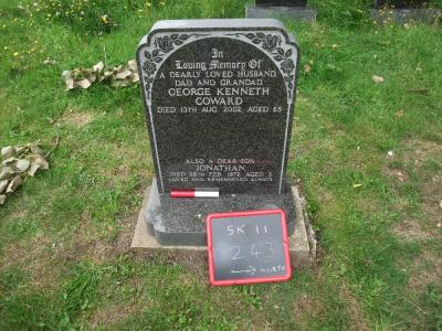 Figure 2 - Headstone with scale bar and blackboard (Image Copyright - Mark Simpson)