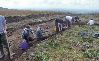 Some of the students at work in Trench AG (Used with kind permission of Barbara Grant)