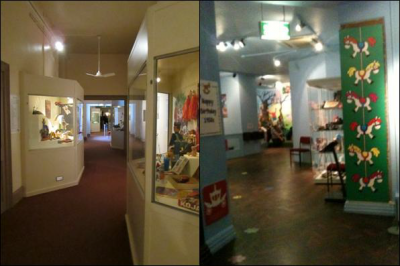 Figures 3-4 (L-R): Toy exhibition – before and after (Image Copyright: Flo Laino)