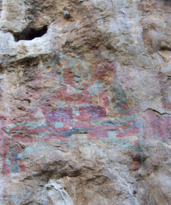 Figure 3: Photograph of Oxtotitlán Mural 1 (Image Copyright: Arnaud F. Lambert)
