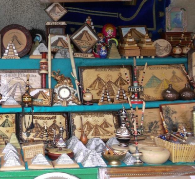Figure 2: Bosnian pyramid souvenirs being sold in Visoko (Image Copyright: Fabián Ledo-Fernández)