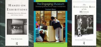 Figure 1 (L-R): (Caulton 1998), (Black 2005) and (Hooper-Greenhill 1999) all focusing on children in the front covers