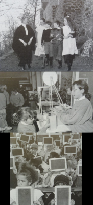 Figure 2: Photographs of children involved in educational heritage activities<br /> (Hooper-Greenhill 1994, 141, 147, 149)