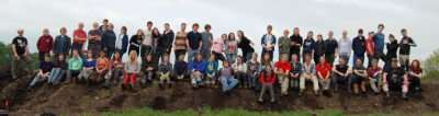 Figure 1: 2013 Star Carr fieldschool students and staff (Reproduced with kind permission of the POSTGLACIAL Project)