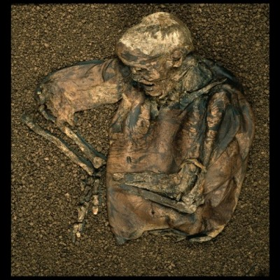 Figure 1. The remains of Lindow Man (Image copyright: The British Museum).