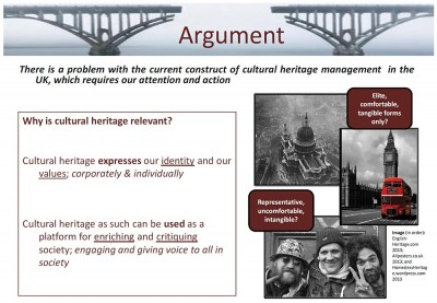Figure 2. Argument and relevance (Wajdner 2013b, slide 4).