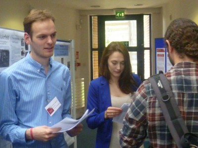 <b>Figure 3.</b> <i>Alistair Galt, University of Southampton, handing out questionnaires</i> (Image Copyright: D. Altoft).