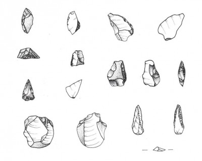 Figure 4. Lithic industry. Drawings by author.