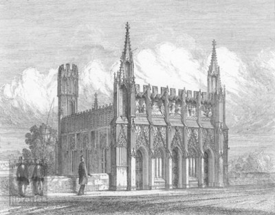 Figure 7. St Mary's Chapel on Wakefield Bridge, 1851 (Higham 1851 [Engraving; Image Reference: xl02643] At: http://www.twixtaireandcalder.org.uk). Everything from bridge level was rebuilt in 1848. Image courtesy of Wakefield Council.