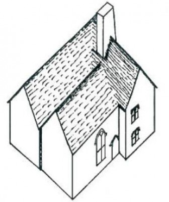 Figure 4. Perspective sketch of how the building may have looked, which resembles Buckler's sketch (Fig. 7) (Quiney 2003, 249).