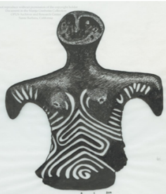 Figure 1. An example of a female figurine from Gimbutas' 'Language of the Goddess'. Interestingly these figurines were interpreted as a continuous tradition of female power, without consideration of geographical location or time period. (Photograph from Marija Gimbutas' collection).