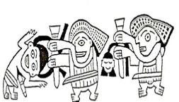 Figure 2. Depiction of a decapitation ritual (Proulx 2001).