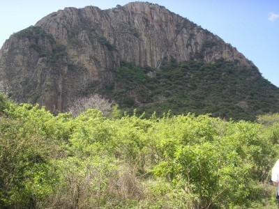 Figure 1. The northwestern slopes of Cerro Chalcatzingo. (Image Copyright: Arnaud F. Lambert)