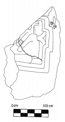 Figure 5. Scale drawing of Chalcatzingo Monument 13 (Image Copyright: Arnaud F. Lambert)