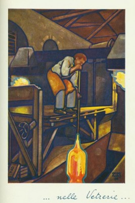 Figure 6. An example of the artwork commissioned by Giuseppe Verzocchi depicting industrial scenes that included at least one V & D brick (bottom left in this illustration by Guido Marussig which was published in Veni VD Vici) (Arthur, 2010; Verzocchi, 1924).