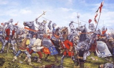 Figure 1: Artist's impression of the Battle of Bosworth (after Palmer 2016).
