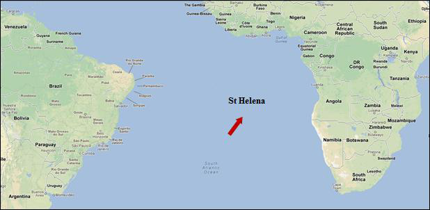 Figure 2: Location of Saint Helena within ...